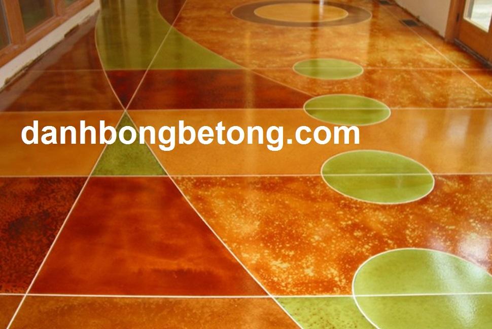 Nhuộm màu sàn bê tông