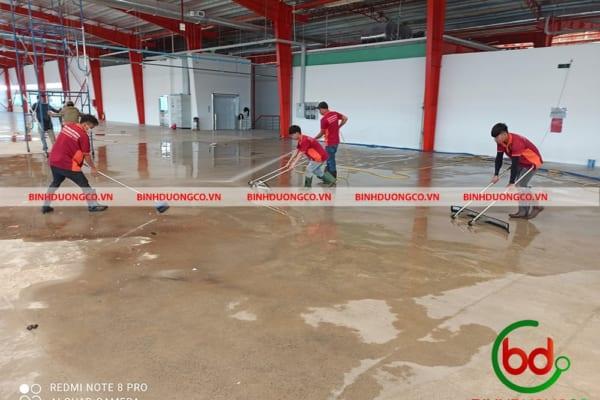 Vệ sinh công trình sau xây dựng dọn dẹp bụi bẩn công nghiệp